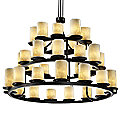 Clouds Dakota Three Tier Chandelier by Justice Design
