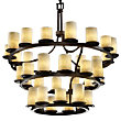 Clouds Dakota Three Tier Inverted Chandelier by Justice Design