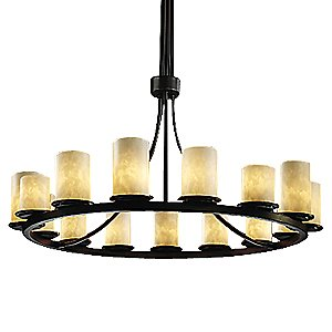 Clouds Dakota Ring Chandelier by Justice Design