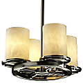 Clouds Dakota 4-Light Ring Chandelier by Justice Design