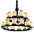 Clouds Dakota Two Tier Ring Chandelier by Justice Design