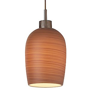 Queeny I Down Textured Pendant by Bruck Lighting Systems