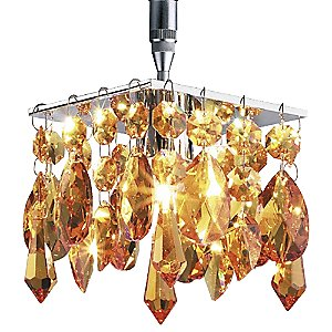 Cristello Amber S-Down Pendant by Bruck Lighting Systems