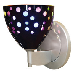 Rainbow II Round LED Sconce by Bruck Lighting Systems