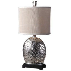 Harrison Silver Table Lamp by Uttermost