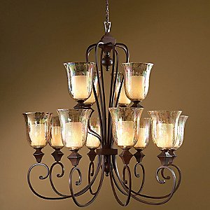 Elba 2 Tier Chandelier by Uttermost