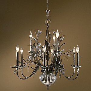Cristal de Lisbon 9 Light Chandelier by Uttermost