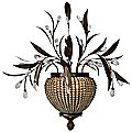 Cristal de Lisbon Wall Sconce by Uttermost