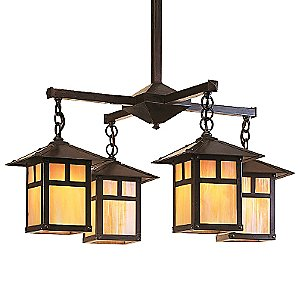 Evergreen Chandelier by Arroyo Craftsman