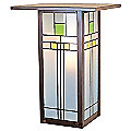 Franklin Outdoor Flush Wall Sconce by Arroyo Craftsman