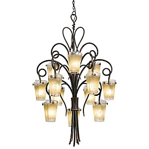 Tribecca Foyer Chandelier by Kalco Lighting