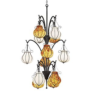 Mardi Gras Three Tier 12 Light Chandelier by Kalco Lighting