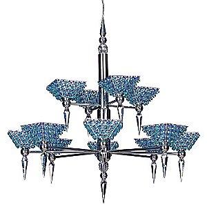 Vertex Pyramid 2-Tier Chandelier by Schonbek Geometrix
