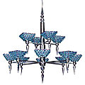Vertex Pyramid 2-Tier Chandelier by Schonbek Geometrix