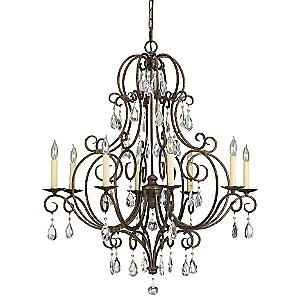 Chateau 8-Light Chandelier by Murray Feiss