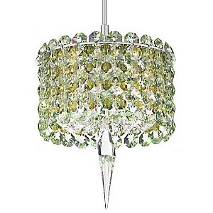 Matrix Cylindrical Pendant with Crystal Accent by Schonbek