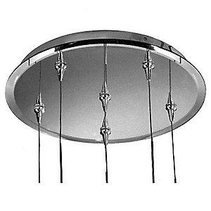 Mirrored Round Multi-Light Canopy by Schonbek Geometrix