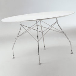 Glossy Oval Table by Kartell