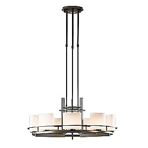 Arc Ellipse 9 Light Circular Chandelier by Hubbardton Forge