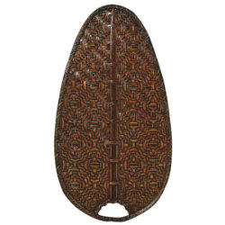 "Caruso 18"" Woven Bamboo Narrow Oval Blade Set by Fanimation"