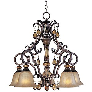 Dresden Down Light Chandelier by Maxim Lighting