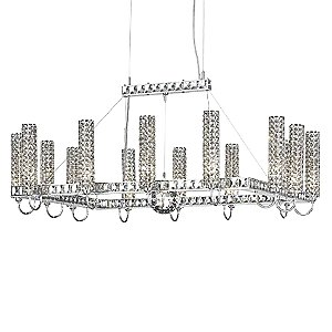 Elements Rectangle Chandelier by Schonbek Geometrix