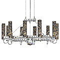 Elements 10 Lights Rectangle Chandelier by Schonbek