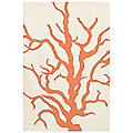 Coral Flatweave Dhurrie Rug by Thomas Paul