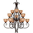 Caspian Three-Tier Chandelier by Minka-Lavery