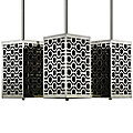 Brentwood Side Patterned Mini Square Pendant by Stonegate Designs