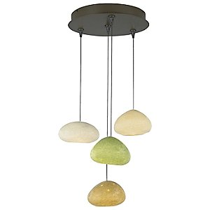River Rock Multi-Light Pendant by Bacchus Glass for Tech Lighting