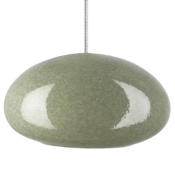 River Rock Oblong Oval Pendant by Bacchus Glass for Tech Lighting