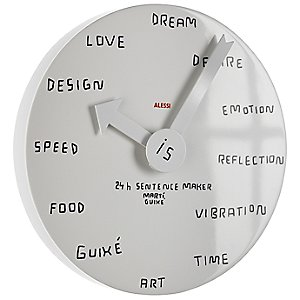Sentence Maker Wall Clock by Alessi