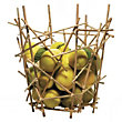 Blow Up Bamboo Citrus Basket by Alessi