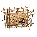 Blow Up Bamboo Magazine Rack by Alessi