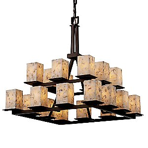Alabaster Rocks Montana Two Tier Chandelier by Justice Design