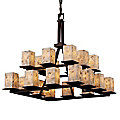 Alabaster Rocks! Montana Two-Tier Chandelier by Justice Design