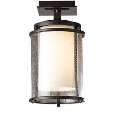 Meridian Outdoor Semi-Flushmount by Hubbardton Forge
