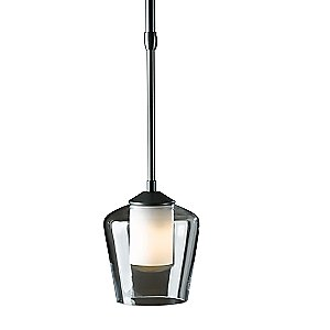 Simple Adjustable Pendant with Double Glass by Hubbardton Forge