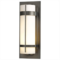 Banded Aluminum Outdoor Wall Sconce Grande No. 305895