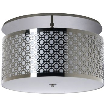 Brentwood Side Patterned Semi-Flushmount