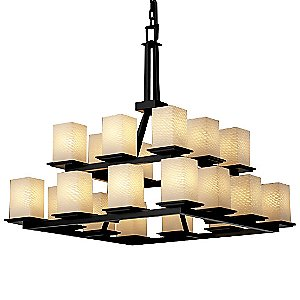 Fusion Montana Two-Tier Chandelier by Justice Design