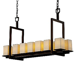 Limoges Montana 14 Light Linear Chandelier by Justice Design