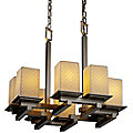 Limoges Montana 8-Light Zig-Zag Chandelier by Justice Design