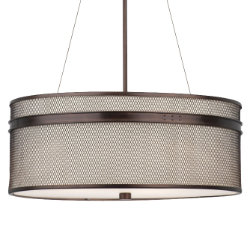 I Beam Drum Pendant by Forecast Lighting