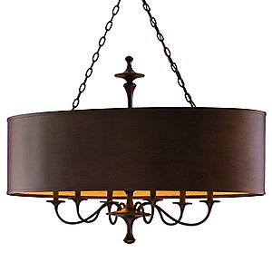 Bryant Park Oval Drum Pendant by Corbett Lighting
