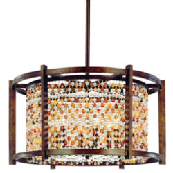 Karma Drum Pendant by Corbett Lighting