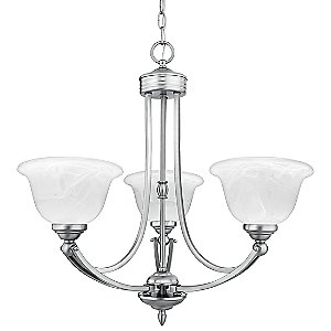Delray 3-Light Chandelier by Quoizel