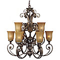 Fairmont 2-Tier Chandelier by Quoizel