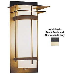 Banded Aluminum Outdoor Sconce With Top Plates by Hubbardton Forge - OPEN BOX RETURN